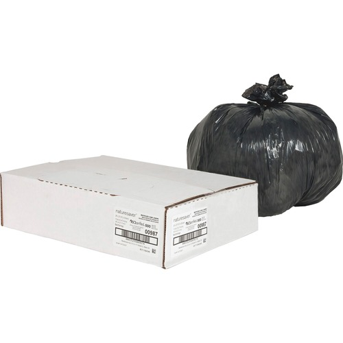 Nature Saver Black Low-density Recycled Can Liners | by Plexsupply