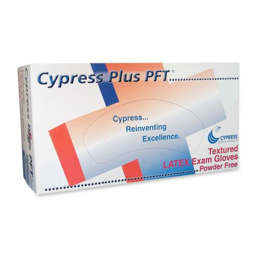 Cypress Plus Cypress Plus Powder Free Textured Latex Examination Gloves