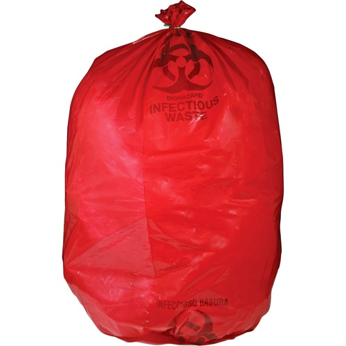 MHMS Red Biohazard Infectious Waste Bags | by Plexsupply