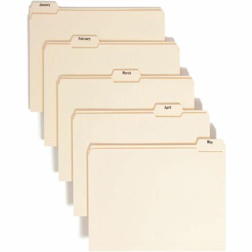 Smead Monthly Indexed Manila File Folder Set   by Plexsupply