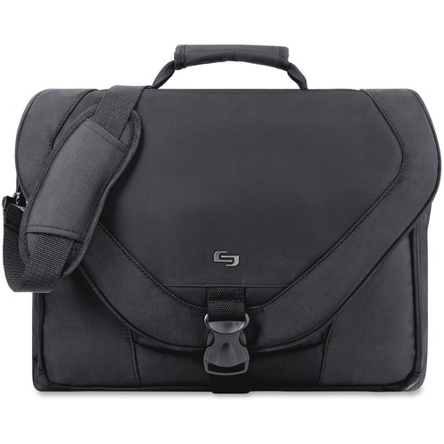 """Solo Classic Carrying Case (Messenger) for 17"""" Notebook - Black"""