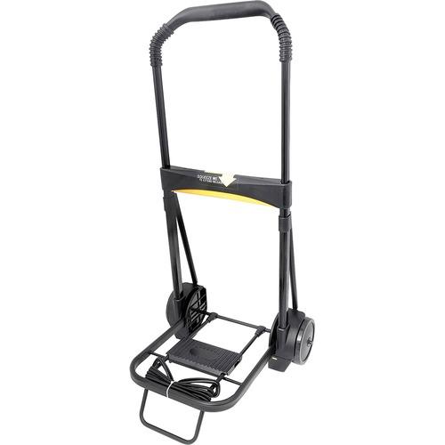 Ultra-Lite Folding Cart, 250 lb Capacity, 11 x 13.25 Platform, Black | by Plexsupply