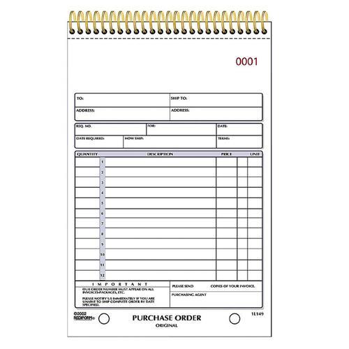 Rediform Purchase Order Book | by Plexsupply