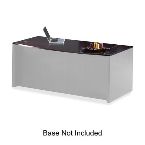Mayline Group Corsica Veneer Series Bowfront Desk Top