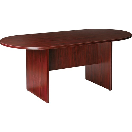 Lorell Essentials Mahogany Oval Conference Tables | by Plexsupply