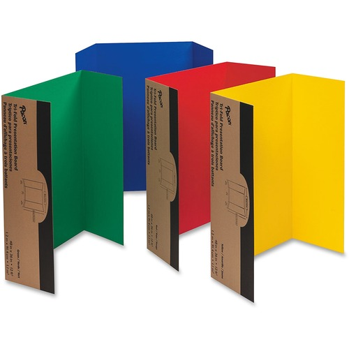Pacon Tri-fold Assorted Presentation Board | by Plexsupply