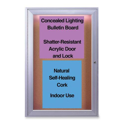 Ghent Manufacturing Indoor Lighted Bulletin Board