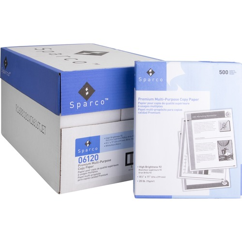 Sparco 92 Bright 20 lb. Multipurpose Paper | by Plexsupply