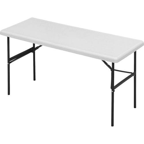 IndestrucTables Too 1200 Series Folding Table, 60w x 24d x 29h, Platinum | by Plexsupply