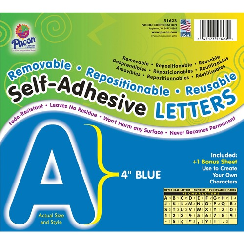 Pacon Self-Adhesive Removable Letters | by Plexsupply