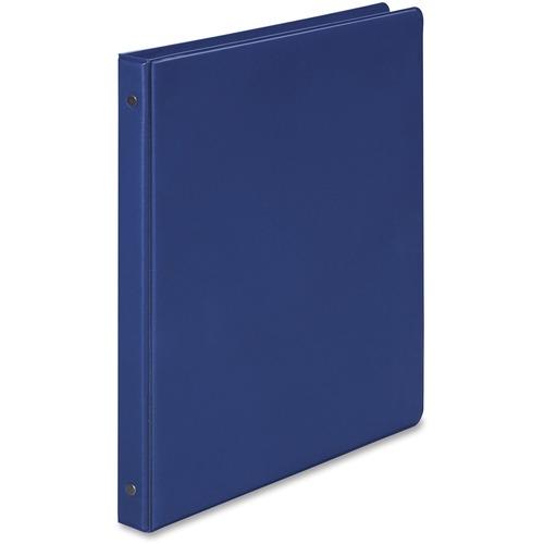 Wilson jones - basic vinyl round ring binder, 1/2-inch capacity, dark blue, sold as 1 ea