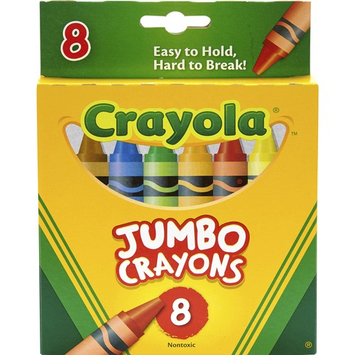 So Big Crayons, Large Size, 5 x 9/16, 8 Assorted Color Box   by Plexsupply