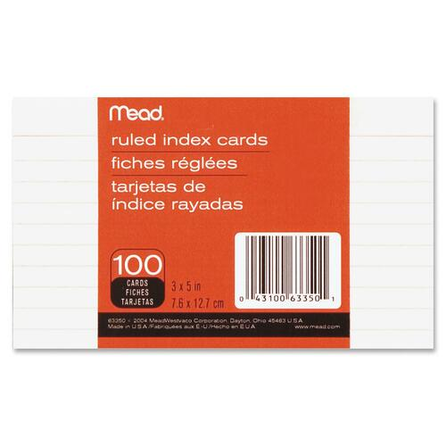 Mead Ruled Index Card