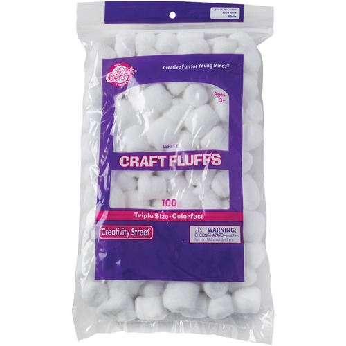 Chenille Kraft White Craft Fluffs