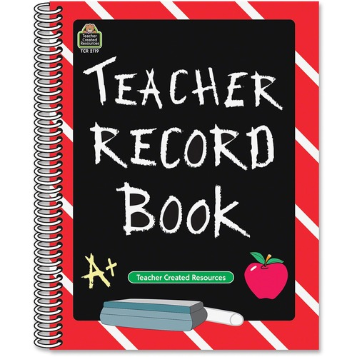Teacher Created Res. Chalkboard Design Record Book | by Plexsupply