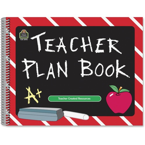 Teacher Created Res. Chalkboard Teacher Plan Book | by Plexsupply