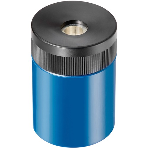 Handheld Barrel Manual Pencil Sharpener, Assorted Canister Colors w/Black Top | by Plexsupply