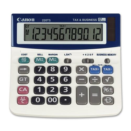 Canon WS220TS Portable Desktop Calculator