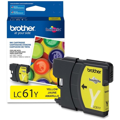 Brother LC61YS Yellow 325 Page Yield Ink Cartridge for Brother Printers