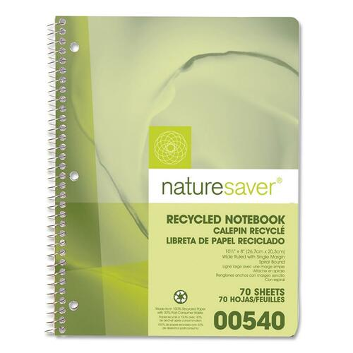 Nature Saver Recycled 1-Subject Notebook