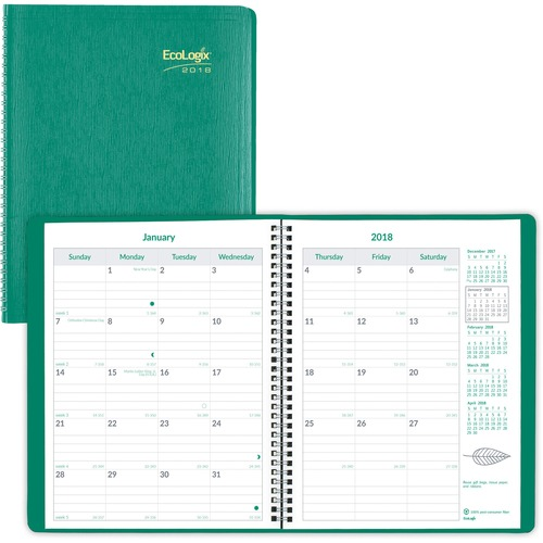 Rediform EcoLogix Monthly Planner