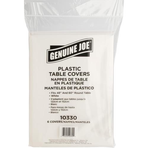 Genuine Joe Plastic Round Tablecovers | by Plexsupply