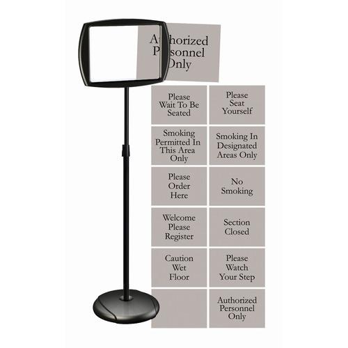 Bi-silque Interchangeable Floor Pedestal Sign | by Plexsupply