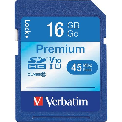 Verbatim 16GB Premium SDHC Memory Card, Class 10