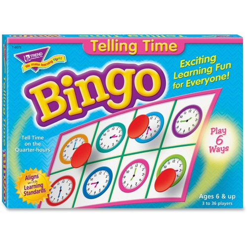 Trend Telling Time Bingo Game | by Plexsupply