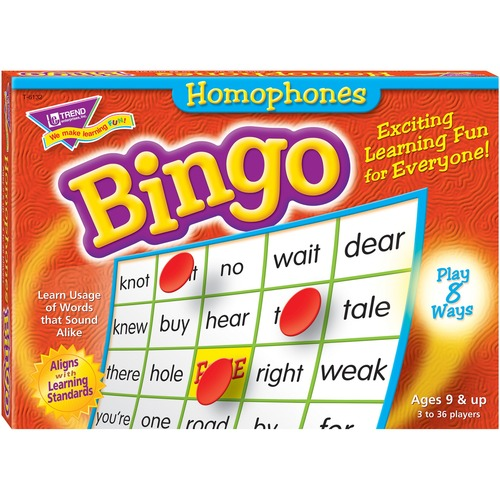 Trend Homonyms Bingo Game | by Plexsupply