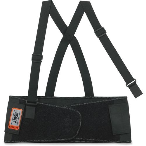 ProFlex 1650 Economy Elastic Back Support, Medium, Black | by Plexsupply