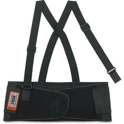 ProFlex 1650 Economy Elastic Back Support, Large, Black | by Plexsupply