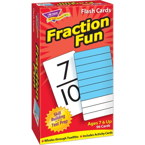 Trend Fraction Fun Flash Cards | by Plexsupply