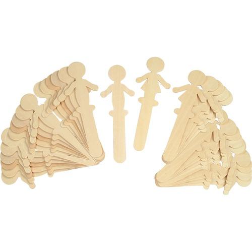 Chenille Kraft People Shaped Wood Craft Sticks | by Plexsupply