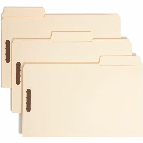 Smead 19535 Manila SuperTab Fastener File Folders with Oversized Tab