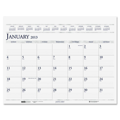 House of Doolittle Deluxe Desk Pad Calendar Refill