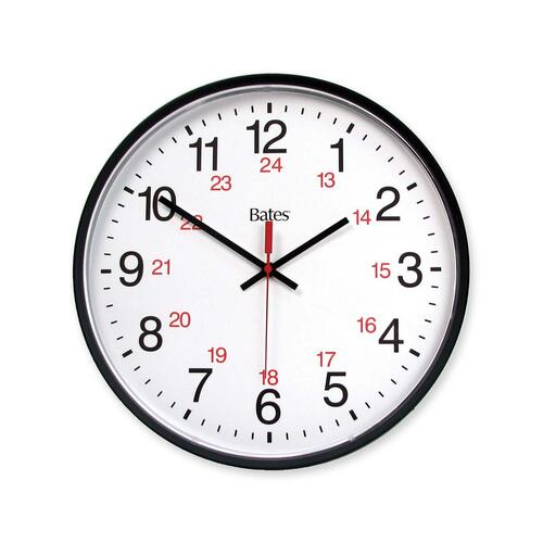 GBC Commercial 12/24 Hour Electric Wall Clock: Whitecourt Stationery