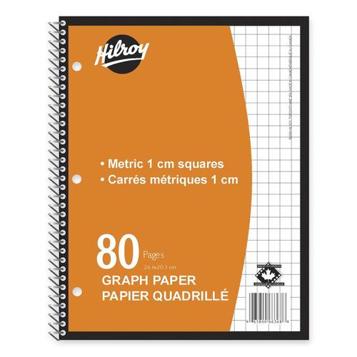 hilroy metric graph paper coil notebook hlr66368