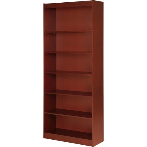Lorell Panel End Cherry Hardwood Veneer Bookcase   by Plexsupply