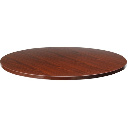 Lorell Essentials Mahogany Round Conf. Tables | by Plexsupply