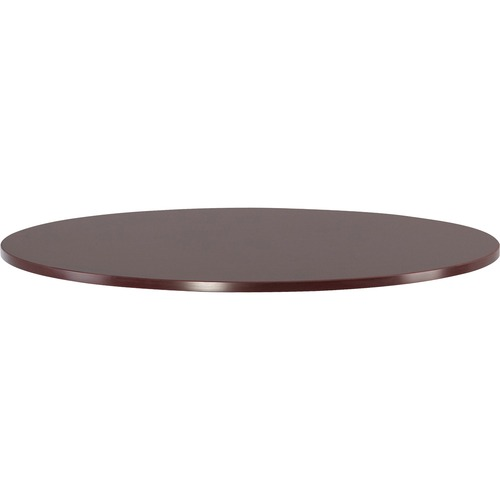 Lorell Essentials Mahogany Round Conf. Tables | by Plexsupply