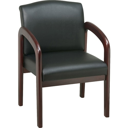 Lorell Deluxe Faux Leather Guest Chairs | by Plexsupply