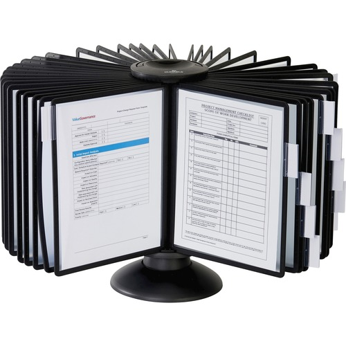 Durable Sherpa Carousel 40 Desktop Rotary System | by Plexsupply