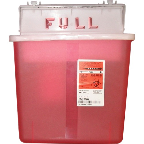 Sharps Containers, Polypropylene, 5 qt, Red | by Plexsupply