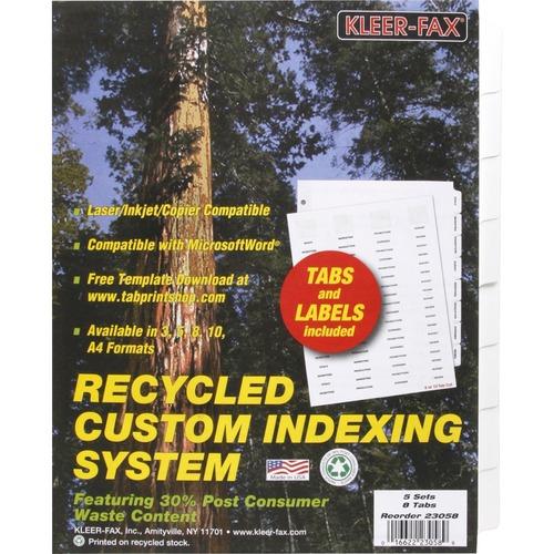 Kleer-Fax HiTech Custom Indexing System