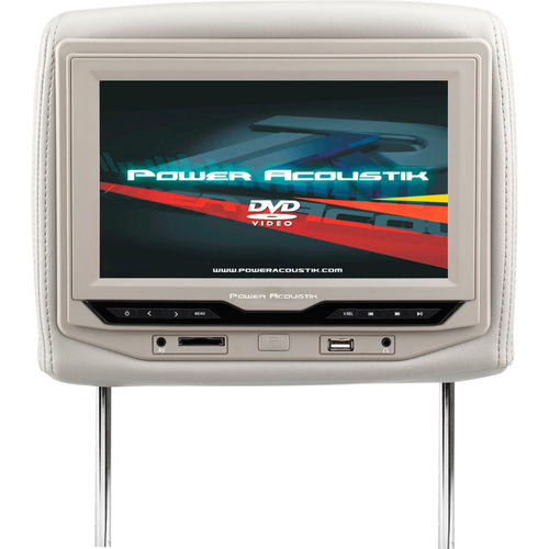 "Power Acoustik HDVD-93GR Car DVD Player - 9"" LCD Display - 16:9 - 640 x 234 - Headrest-mountable"