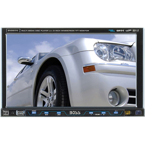 "Boss Audio BV8970 Car DVD Player - 8"" LCD - 68 W - Single DIN"
