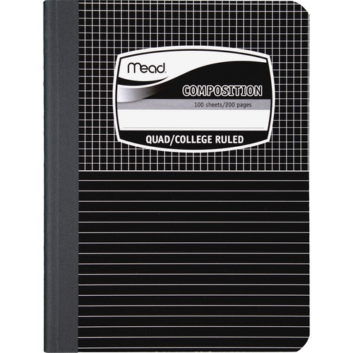 Mead Black Cover Graph Composition Book | by Plexsupply