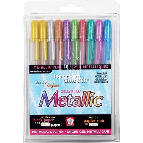 Sakura Assorted Metallic Gel Ink Pens   by Plexsupply