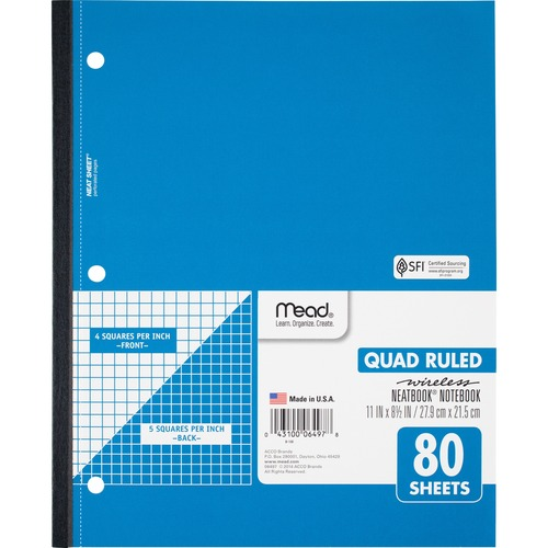 Mead Quad Wireless Neatbook Notebook | by Plexsupply